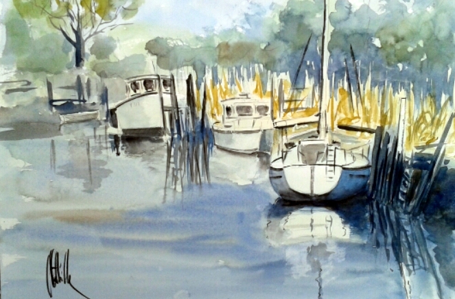 Port de Saint-Vivien 1
